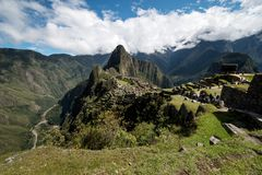 Peru de Machu Picchu, vista panoramatic fotografia de stock royalty free