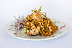 Peru Dish: Rice with Seafood (Arroz con Mariscos). Stock Image