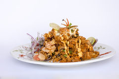 Peru Dish: Rice with Seafood (Arroz con Mariscos). Royalty Free Stock Image