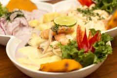 Peru Dish: 3 tipos de Cebiche imagens de stock royalty free