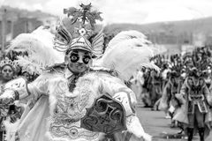 Peru do diablada de à  ngel de danza - Bolívia fotografia de stock