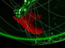 Peru do espaço com rede imagem de stock