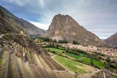 Peru, erschrockenes Tal stockbild