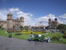 peru för Amerika stadscuzco södra fyrkant Arkivfoto