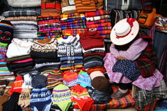 Peru fabric vendor Royalty Free Stock Photo