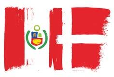 Peru Flag Images libres de droits