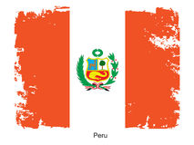 Peru flag Stock Photo