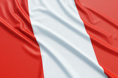 Peru Flag Immagine Stock