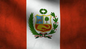 Peru flag Royalty Free Stock Photography