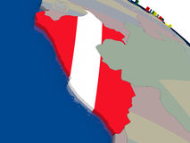 Peru with flag Stock Images