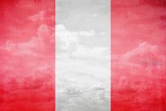 Peru flag illustration. Peru flag vintage sky illustration stock photo