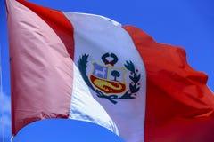 Peru Flag stock foto