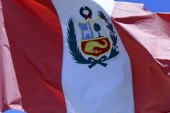 Peru Flag stock afbeeldingen