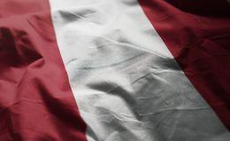 Peru Flag Rumpled Close Up.  royalty free stock photo