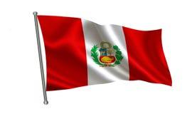 Peru Flag Uma série de bandeiras do ` do mundo ` O país - bandeira do Peru Foto de Stock