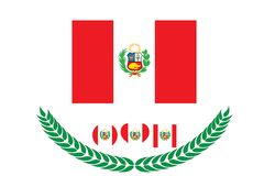 Peru Flag-Vektorillustration Peru Flag Staatsflagge von Peru Lizenzfreie Stockbilder