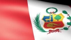 Peru Flag Waving stock de ilustración