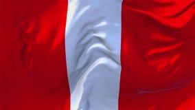 232 Peru Flag Waving en fondo inconsútil continuo del lazo del viento stock de ilustración