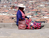 Peru-Frau Stockfotos
