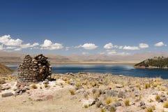Peru, Funerary towers of Silustrani, Lake Titicaca area Stock Photo
