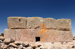 Peru, Funerary towers of Silustrani, Titicaca area Stock Images