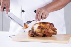 Peru grelhado corte do cozinheiro chefe Fotografia de Stock Royalty Free