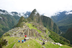 Peru inca ancient ruin Stock Photo