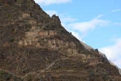 Peru Inca City Ollantaytambo Royalty Free Stock Images