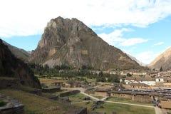 Peru Inca City Ollantaytambo arkivbilder