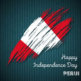 Peru Independence Day Patriotic Design Immagini Stock Libere da Diritti