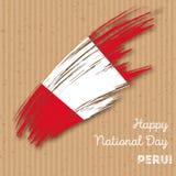 Peru Independence Day Patriotic Design Fotografia Stock