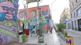 Murales in Barranco district Lima Peru