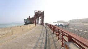 Pier with gazebo seaside La Punta Lima Peru