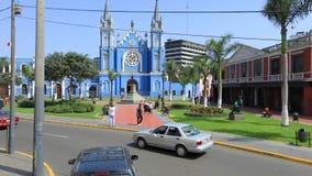 The Recoleta church and France Square Lima Peru