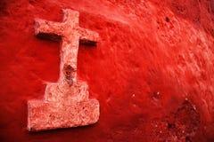 Peru, katholisches Kreuz Stockfotos
