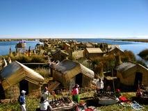 Peru, lago Titicaca, região de Puno Imagens de Stock Royalty Free