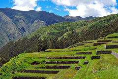 Peru landscape in Chinchero. Landscape of Peru, Chinchero Inca ruins, Peru stock photography