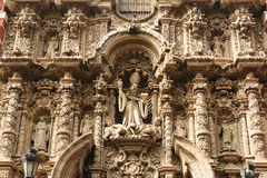 Peru, Lima,. Lima - capital of Peru. Cityscape - Plaza de Armas - main squer in town - architecture detail. The picture presents iglesia de san Agustin stock images