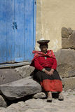 Peru - Local woman. Local woman in Ollantaytambo in the Sacred Valley of the Incas in Peru Royalty Free Stock Photography