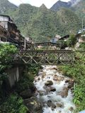 Peru - Machu Picchu Aguas Caliente Royalty-vrije Stock Foto