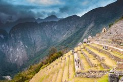 Peru. Machu Picchu historic monument old city Royalty Free Stock Photo