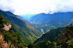 Peru, machu pichu route landscape. The way to machu pichu royalty free stock photography