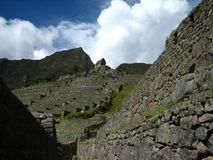 Peru: Machu Pichu, Unesco-världsarv i Andinesen arkivbild
