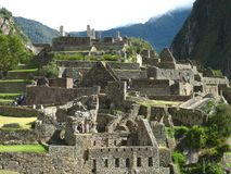 Peru: Machu Pichu, Unesco World Heritage in the Andines. Showing the old inka-indio-culture royalty free stock photos