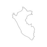 Peru map silhouette. On the white background. Vector illustration Royalty Free Stock Image