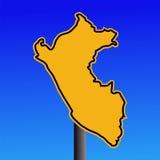 Peru map warning sign stock illustration