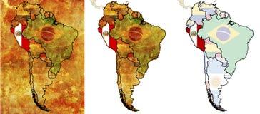 Peru-Markierungsfahnengegend Lizenzfreie Stockfotografie
