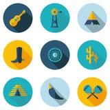 Peru, Mexico, pictogrammen in vectorformaat Royalty-vrije Stock Afbeelding