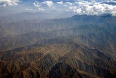 Peru Monutain Range. Beautiful mountain range in Peru.  This was take on a flight from Lima to Cusco Stock Image