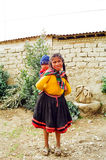 Peru Mountain Children stock image
